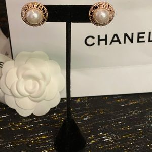 Vintage Chanel Button earrings STAMPED